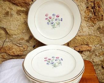 Dessert plates porcelain Sarreguemines, model Christine
