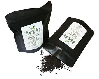 Cocoa Mint Black Tea - Loose Leaf Tea, Chocolate Mint Tea, Black Tea, Loose Leaf Black Tea, Dessert Tea, Chocolate Tea, Mint Tea