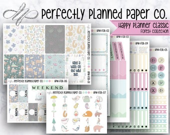 Forest Collection  // Full Weekly Kit // Happy Planner Classic