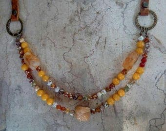 "Necklace ""sun of the desert"""