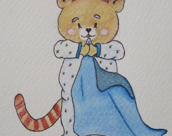 Watercolor, Illustration, birth gifts, Decorations for baby and children...