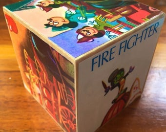 Jiminy Cricket:fire fighter, story block 70mm