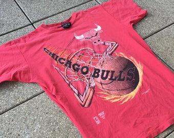 90s CHICAGO BULLS T-Shirt by America's Favorites NBA Michael Jordan Basketball