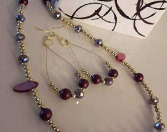 Mother's day gift fancy necklace and earrings