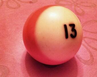 Lucky #13 Bakelite Pool Ball
