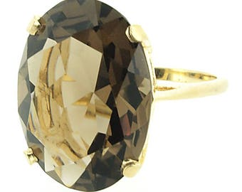 14k gold Smoky Quartz Ring