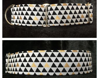 The One With the Triangles Dog Collar / Martingale