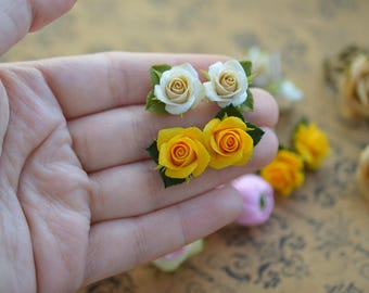 Handmade roses, Polymer clay roses, Fimo flowers, Clay supplies, Fimo supplies