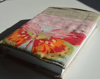 Copri agenda/libro in stoffa con taschine
