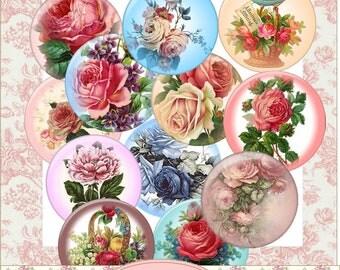 Instant Download Floral Circles Embelishments