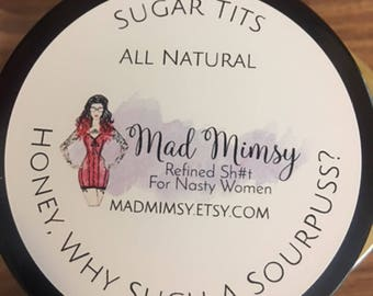 Sugar Scrub, Sugar Tits: Honey, Why Such A Sourpuss? Honey Lemon scent, exfoliating scrub, moisturizing scrub, unfiltered honey scrub