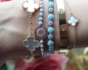 Beautiful Evil Eye Turquoise Bracelet