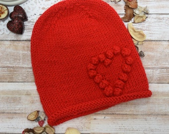Knitted kids hat