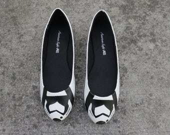 Star Wars Storm Trooper Shoes Themed Flats