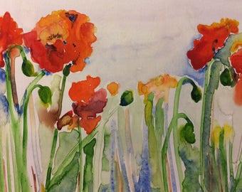 Poppies II (8x6) unframed