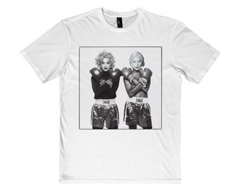 Lady Gaga Vs. Madonna Tee by Beef Apparel