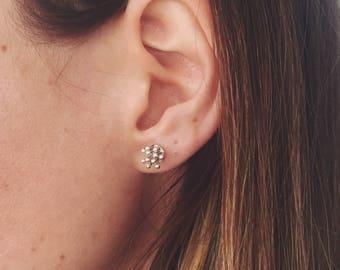 Silver Crown Earring