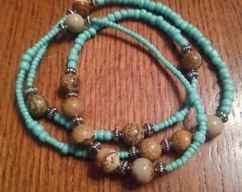 Turquoise wrap around bracelet