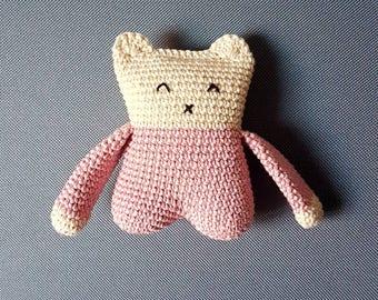 Mini blankie flat long arms - soft and cuddly plush handmade: gift, child, toys, handmade