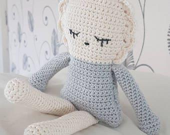 Doudou sheep way ragdoll amigurumi - soft and cuddly plush handmade: gift, child, toys, handmade, baby shower