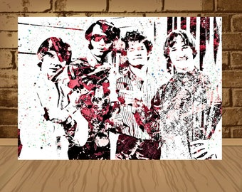 The Monkees Poster, Home Decor,The Monkees Decor, Gift Idea,band poster,The Monkees Art,The Monkees,art,poster,print,wotercolor, Monkees