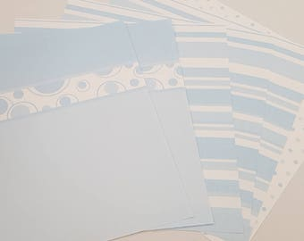 Baby Boy Themed 12x12 inch Scrapbooking Paper