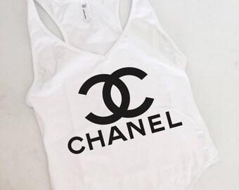 Chanel Bodysuit, American Apparel Bodysuit, Teen, Women, Summer, Spring, Cute Tops, Tumblr