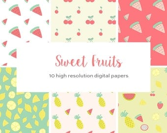 Summer Fruits Digital Papers