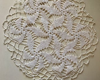 Hand made Vintage doily in crochet