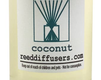 8 oz Coconut Fragrance Reed Diffuser Oil Refill - Made in the USA