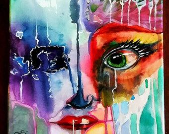 Watercolor Bright Eye