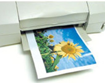 """25 Sheets MAGNETIC PAPER - printable magnet sheets - 8.5""""x11"""" - Free shipping!"""