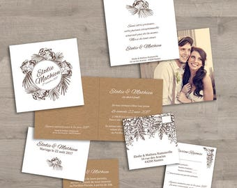 Albizia wedding invitations