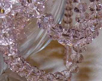 8mm Pink Swarovski Crystals Pink Crystal Beads Bead Supplies Beads Craft Supplies and Tools Crystal Beads Gemstones Faceted Crystal Beads