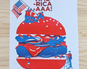 Post 'God bless America' / poster / art print / Risographie / A4 / 21 x 29,7 cm