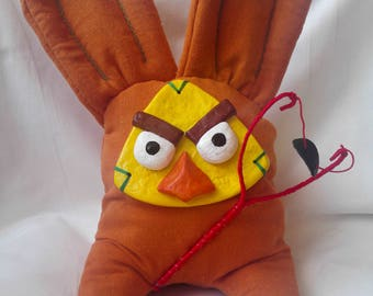 Soft Toy Orange Angry Birds