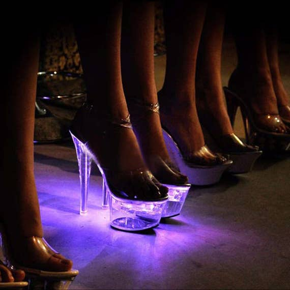 972b76f4a5c LED Illuminated Exotic Dancer Stripper Shoes 6 INCH Stiletto Heel Plateform
