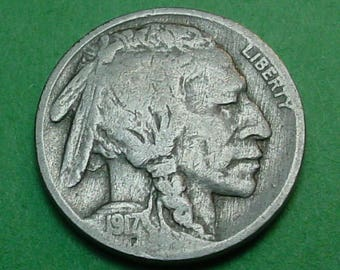 1917-P Buffalo Nickel  Fine   FREE SH In United States # ET91