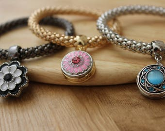 Snap Button Bracelets compatible with Noosa & Ginger Snap Button Charms