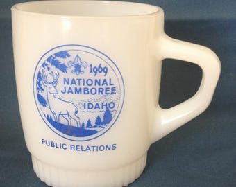 Fire King Boy Scouts National Jamboree 1969 Idaho Mug