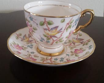 Tuscan Fine Bone China Tea Cup and Saucer
