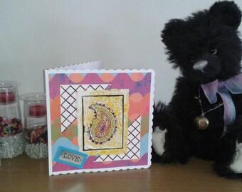 Love card paisley