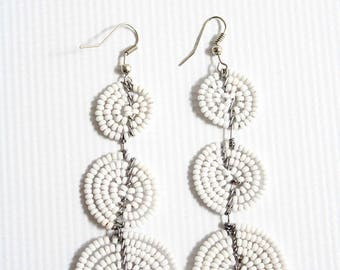 Tribal jewelry, tribal earrings, african earrings, african jewelry, ethnic earrings, ethnic jewelry, brass earrings, boho hoops earrings