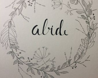 Abide- Wall Art