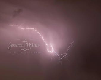 Lightning Strike Wall Art Photographic Print