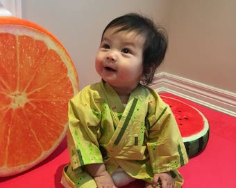 Custom** 100% Cotton Baby Kimono Robe || 6 colorful designs || Perfect Baby Shower Gift || Girls and Boys ||  Airy, Machine-wash safe