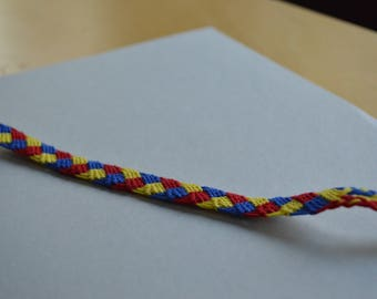 Primary Colors Challah Braided Friendship Bracelet