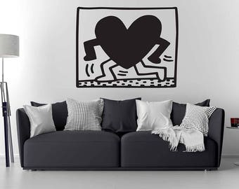 Keith Haring Wall Decal / Keith Haring Art / Home Decor / Wall Sticker / Vinyl Wall decal