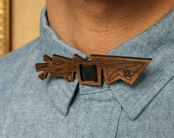 Paper Planes Laser Cut Wooden Bow Tie