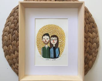 Custom Portrait, Couple Portait, Couple Illustration, Wedding Gift, Anniversary Gift, Fathers Day, Couple Portraits, Family Portrait